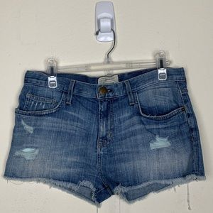 Current/Elliot- Denim Distressed Shorts size 26